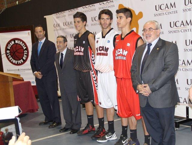 Renovación del acuerdo entre la UCAM y el UCAM Murcia C.B