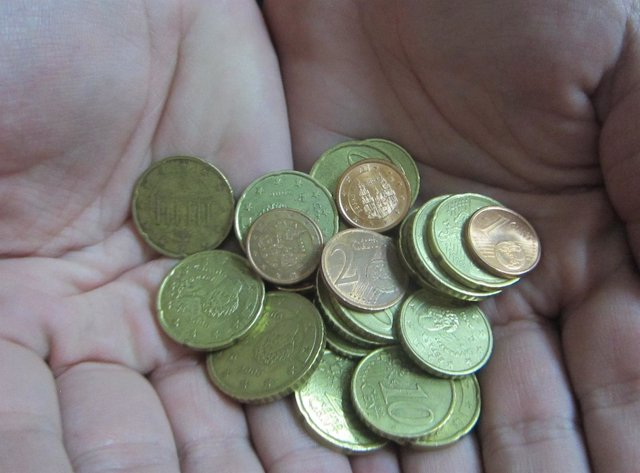 Monedas, Céntimos, Euros, IVA, Pagar, Crisis