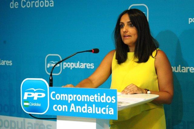 Beatriz Jurado En Una Rueda De Prensa