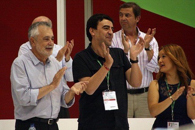 Griñán y Jiménez en el Congreso Regional del PSOE-A