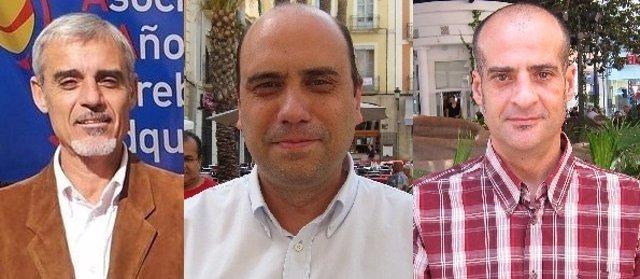 Los tres candidatos a la secretaría local del PSPV en Alicante