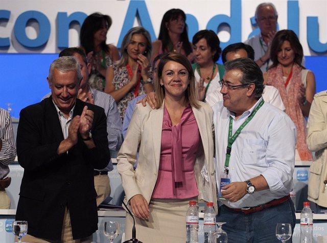 Arenas, ovacionado en su despedida de la Presidencia del PP-A