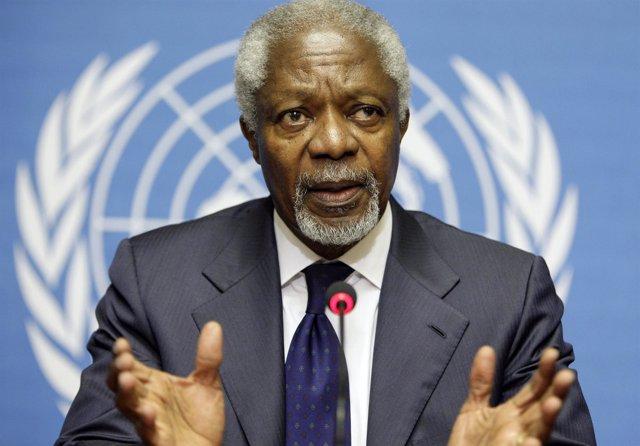 El representante especial de la ONU para Siria, Kofi Annan