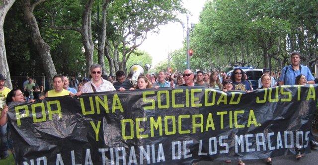 Manifestación en Valladolid contra los recortes del Gobierno