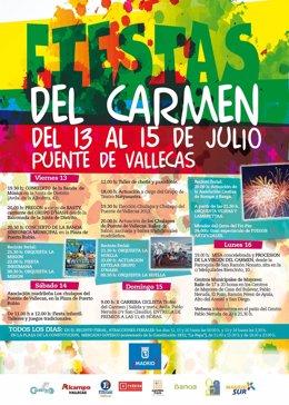 Cartel de las fiestas del Carmen