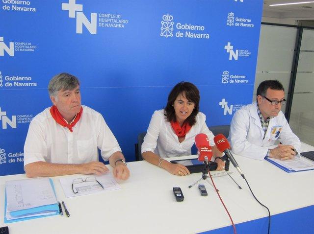 La consejera Marta Vera, Luis Otermin (i) y Wilfredo Soler.