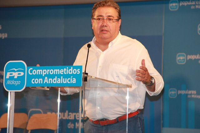 Juan Ignacio Zoido en un acto del PP de Málaga