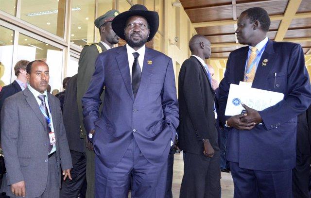 El presidente de Sudán del Sur, Salva Kiir, en una cumbre de la Unión Africana