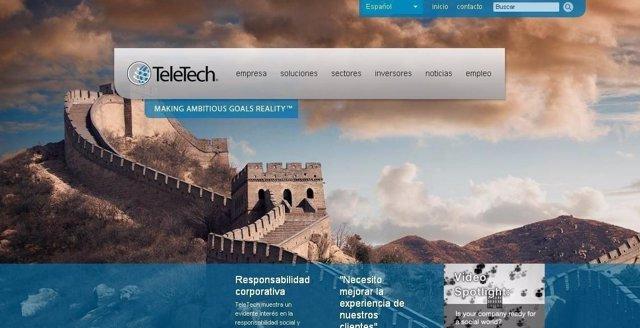 Página web de Teletech