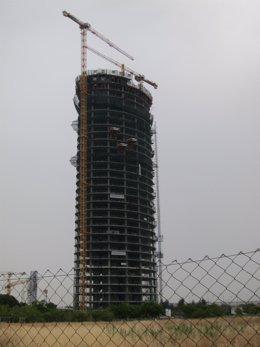 Obras de la torre Pelli.