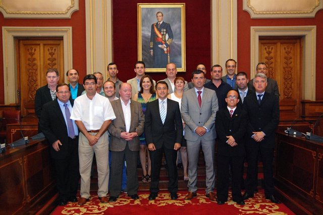 Los alcaldes que han asistido a la firma del acuerdo