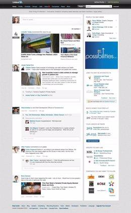 Nueva página principal de LinkedIn