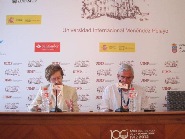 Margarita Salas y Jesús Avila, en la UIMP