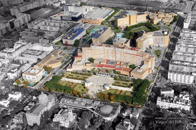 Vista Aérea Del Hospital Virgen Del Rocío De Sevilla