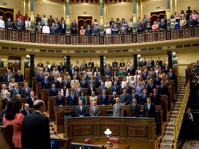 Diputados Y Senadores, Puestos En Pie En Homenaje A Las Víctimas