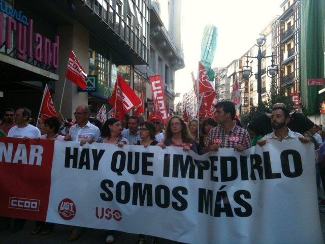 Manifestación contra los recortes del 19 de julio en Santander