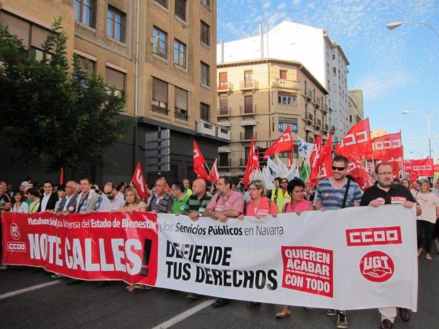 Manifestación contra los recortes del Gobierno central.
