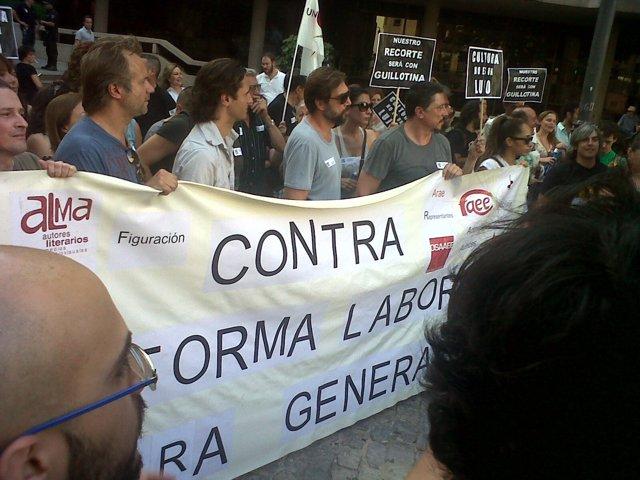 Manifestación contra el IVA cultural en Madrid