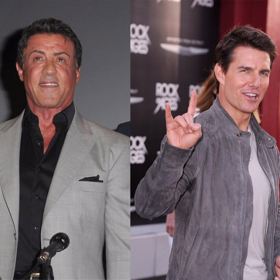 Sylvestre Stallon y Tom Cruise