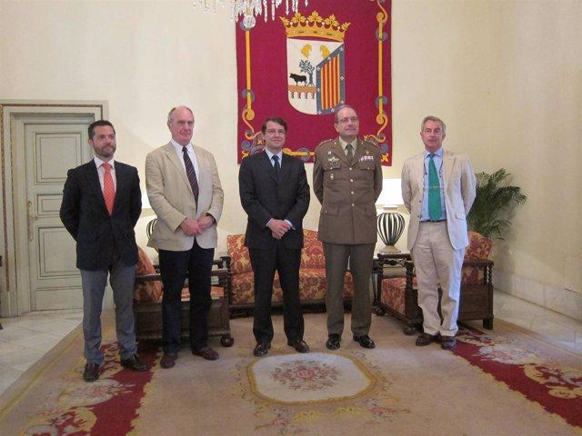 Autoridades Salmantinas Y De Los Ejércitos Español Y Británico