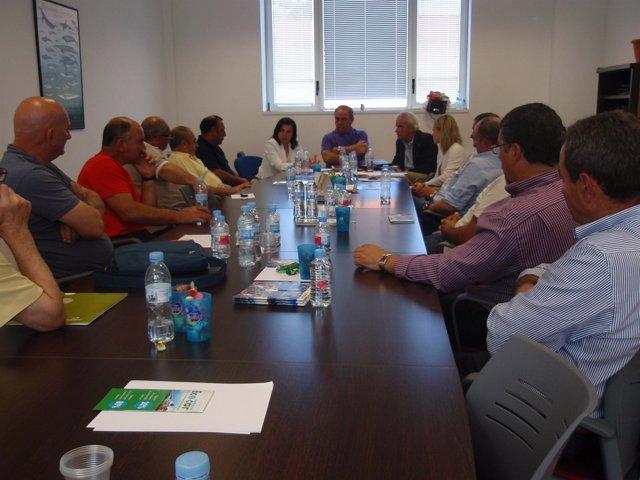 La Consejera De Agroganadería Con La Federación De Cofradías De Pesca De Asturia