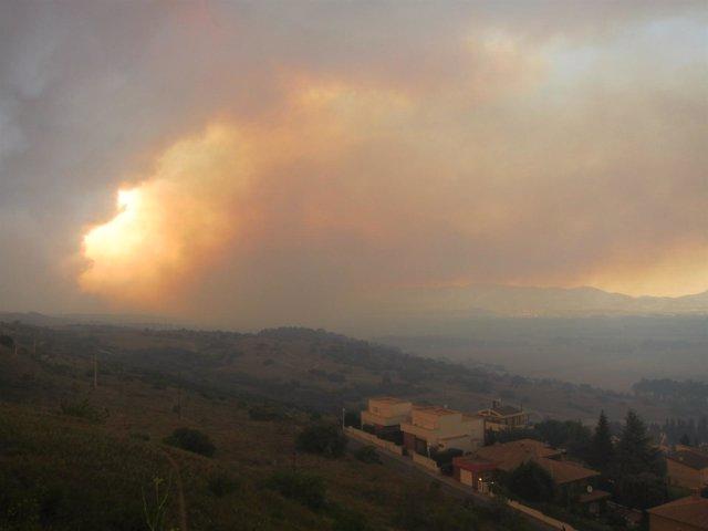 Incendio en Empordà (Girona)