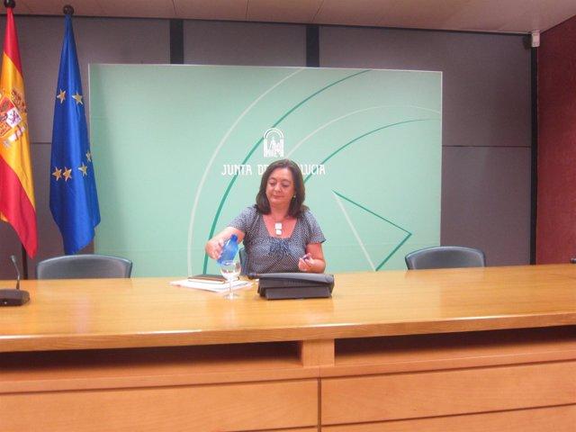 Rueda de prensa de la consejera de Educación en Sevilla