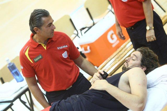 Scariolo Y Pau Con La Selección Española De Baloncesto