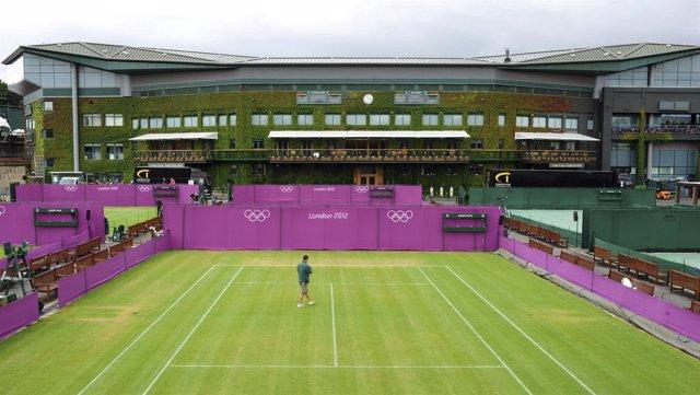 Las pistas de Wimbledon se preparan para los Juegos de Londres