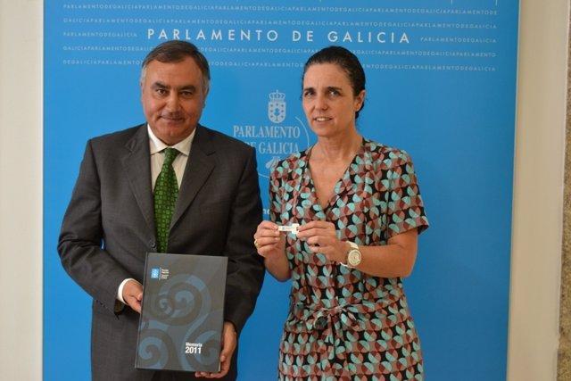 El fiscal superior de Galicia y la presidenta del Parlamento