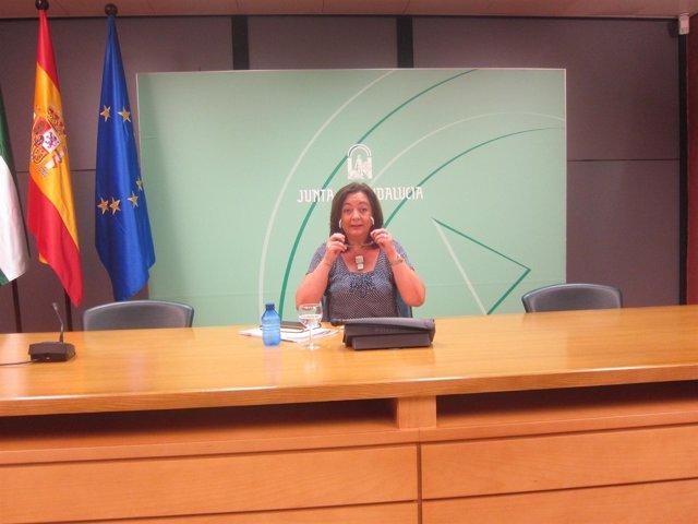 Rueda de prensa de la consejerar de Educación en Sevilla