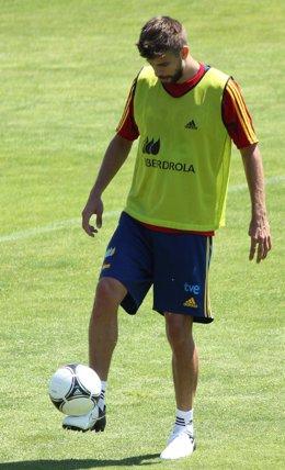 Gerard Pique Entrenamiento Selección Española