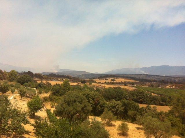 Incendio Del Empordà Desde Llers
