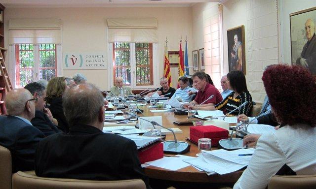 Durante Un Pleno Del Consell Valencià De Cultura
