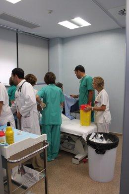 Imagen del Servicio de Neumología del hospital de Santa Lucía