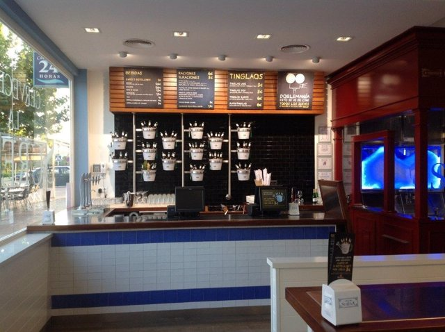 Interior de uno de los establecimientos de La Sureña