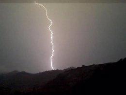 Un Rayo Durante Las Tormentas Eléctricas