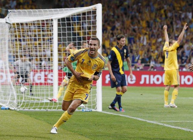 Shevchenko En El Ucrania - Suecia De La Eurocopa