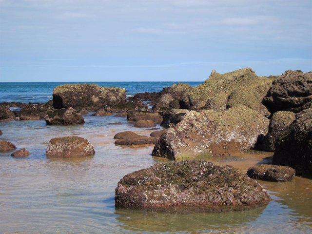 Rocas en el Mar Cantábrico