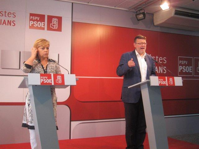 Valenciano Y Puig En La Rueda De Prensa