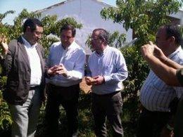 El Conseller Josep María Pelegrí Visita Zonas Afectados Por El Granizo En Lleida
