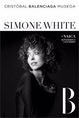Cartel Del Concierto De Simone White.