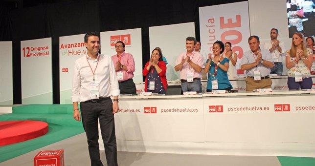 El secretario general del PSOE de Huelva, Mario Jiménez