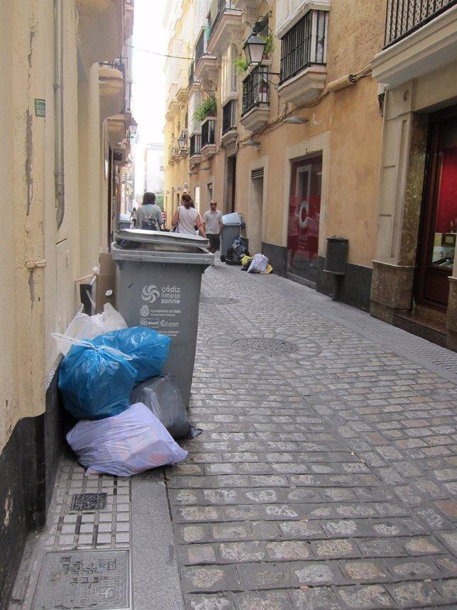 Huelga de basura en Cádiz