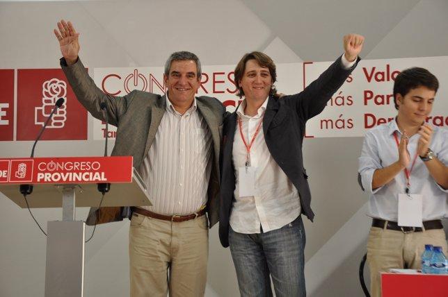 Julio Villarrubioa (izq) y Carlos Martínez Mínguez en el Congreso