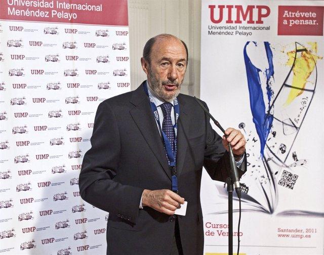 Rubalcaba en la UIMP