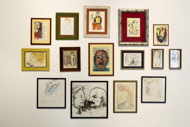 Exposición autorretratos José Hierro