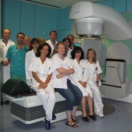 El equipo de Oncología Radioterápica del Hospital Universitario Miguel Servet.