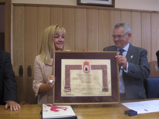 Carrasco recibe la Medalla de Oro de Santa Colomba de Somoza