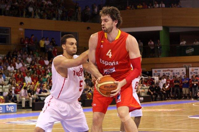 Gasol, en el partido ante Túnez